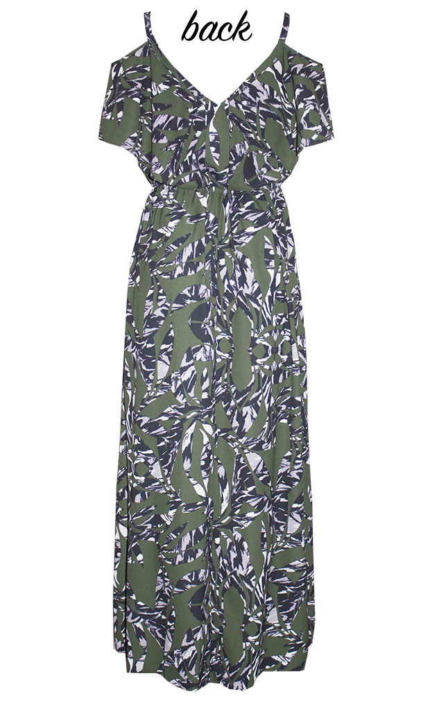 Tayla Green Print Maxi Dress