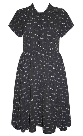 Frankie Black Bows Dress