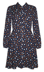 Bethany Navy Spots Dress