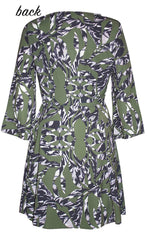 Michelle Green Print Dress