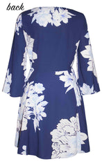 Michelle Navy Floral Dress