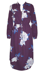 Miranda Purple Floral Shirt Dress