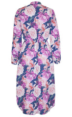 Miranda Navy Floral Shirt Dress
