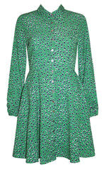 Bethany Green Leopard Dress