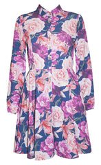 Bethany Navy Floral Dress
