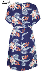 Megan Navy Floral Dress