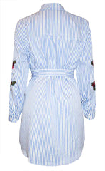 In Love Stripe Shirt Dress