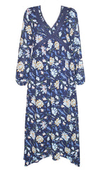 Claire Navy Floral Dress