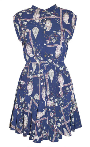 Amy Navy Paisley Dress