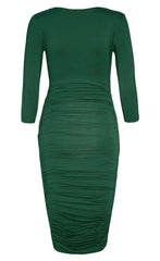 Carmen Green Midi Dress