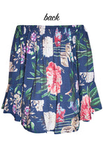 Quicksand Navy Floral Top