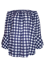 Quicksand Navy Spots Top