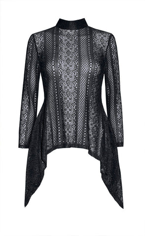 Rival Black Lace Top