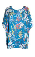 Alex Blue Tropical Top