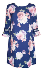 Karma Navy Floral Dress