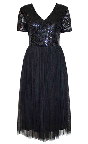Diamond Black Sequin Dress