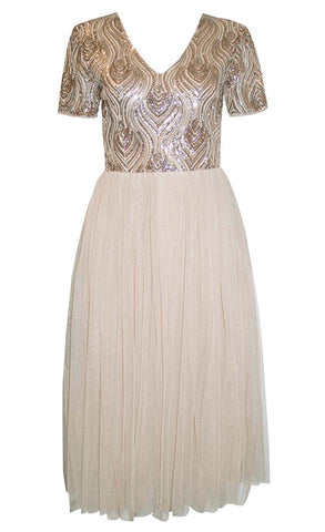 Diamond Gold Sequin Dress