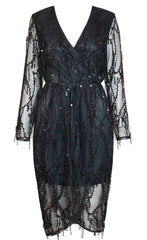 Swift Black Sequin Dress