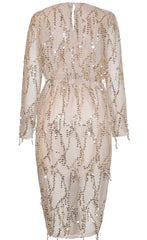 Swift Gold Sequin Dress
