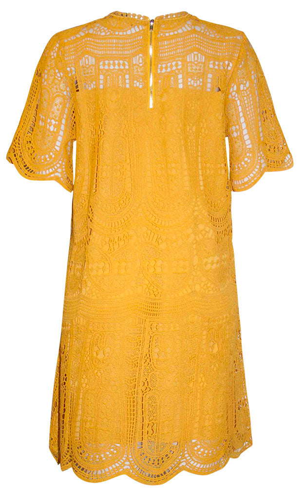 Paige Yellow Lace Dress