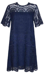 Paige Navy Lace Dress