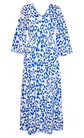 Bahamas Blue Leopard Dress