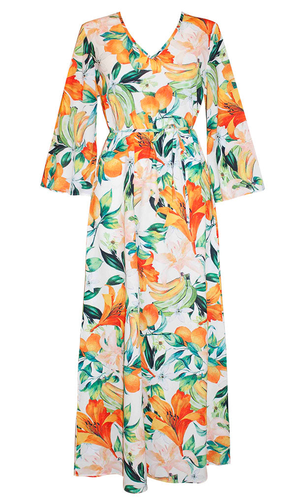 Bahamas White Tropical Dress