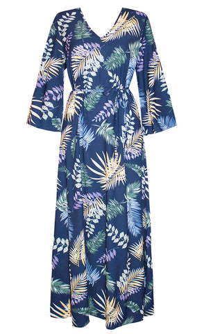 Bahamas Navy Tropical Dress