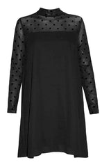 Betty Black Polka Dot Dress