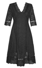 Naomi Black Lace Dress