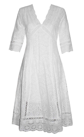 Naomi White Lace Dress