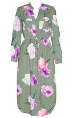 Miranda Green Floral Shirt Dress