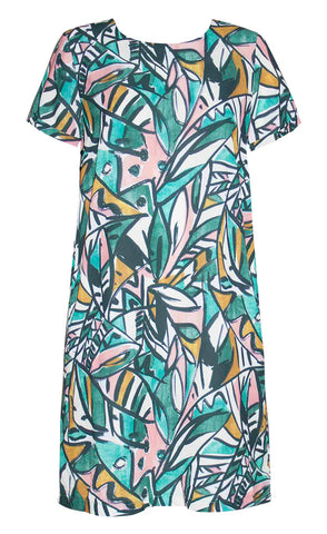 Maggie Abstract Print Dress