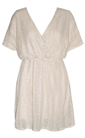 Glory Cream Sequin Dress