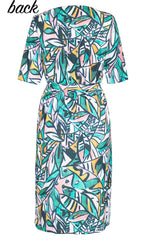 Linda Green Abstract Dress
