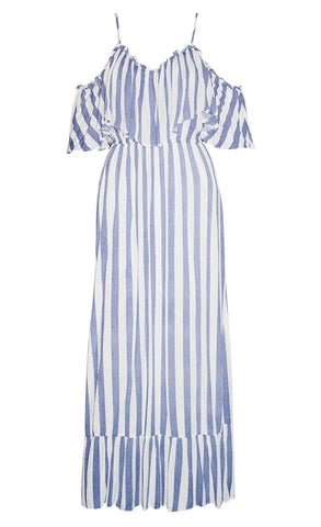 Boardwalk Blue Stripe Maxi Dress
