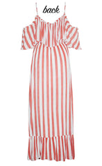 Boardwalk Red Stripe Maxi Dress