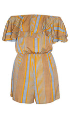 Josie Orange Stripe Playsuit