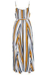 Premonition Stripe Wrap Dress