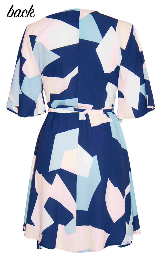Desiree Abstract Wrap Dress