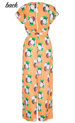 Empire Coconut Print Jumpsuit