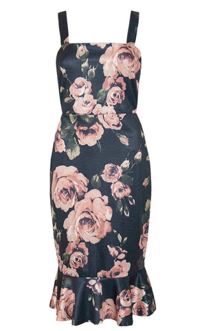 Lucinda Black Floral Dress