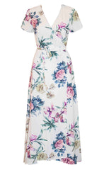 Fiesta White Floral Wrap Dress