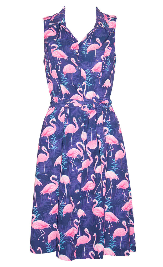 1caaaf4edbe Susie Flamingo Print Dress – Little Party Dress
