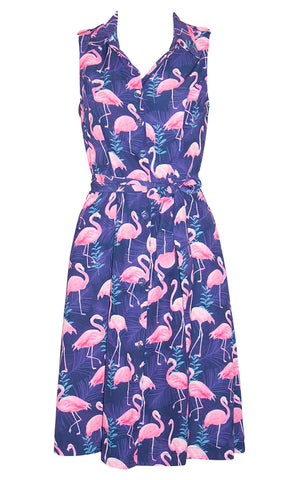 Susie Flamingo Print Dress