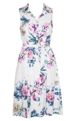 Susie White Floral Dress