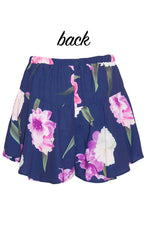 Louise Navy Floral Shorts