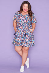 Kimberley Navy Floral Dress