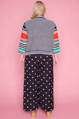 Video Call Stripe Knit