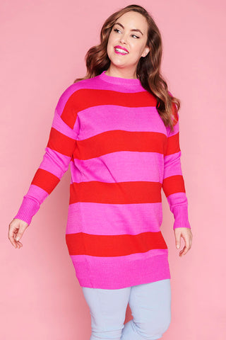 Docks Pink & Red Knit